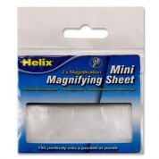 Helix Mini Magnifying Sheet 3x Magnfication Pocket Sized